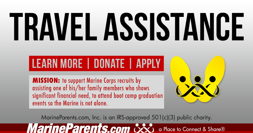 NEW OUTREACH PROGRAM: Marine Parents Travel Assistance