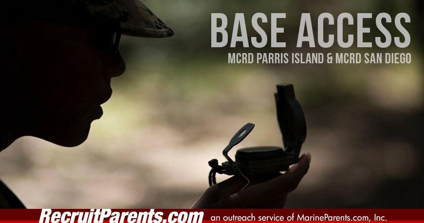 Recruit Graduation MCRD Base Access
