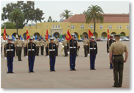 San Diego Platoon Honormen at MCRD Graduation from Marine Corps Boot Camp