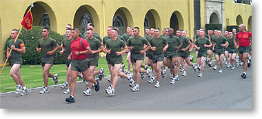 San Diego Recruit Marine Moto Run MCRD Famiy Day from Marine Corps Boot Camp