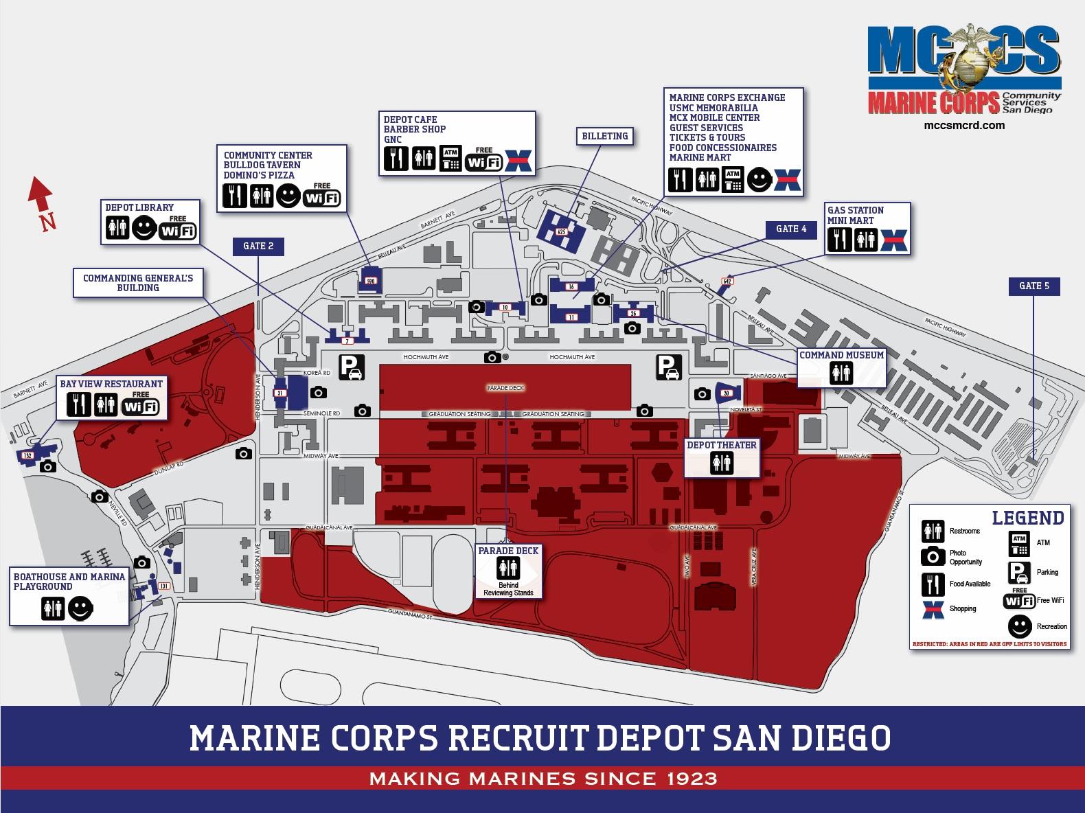 Base Access at MCRD San Diego Bootcamp USMC Bootcamp Recruit
