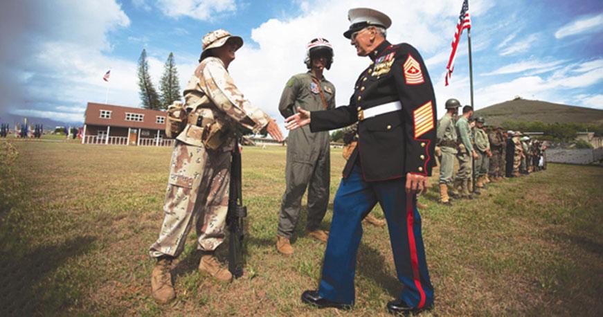 Marine corps clothing store