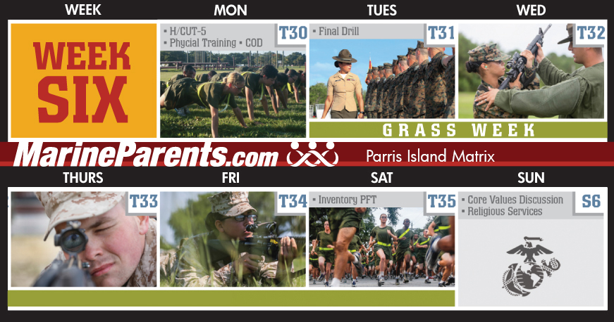 Training Week 6 MCRD Parris Island Training Matrix